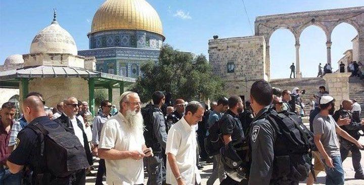 مجموعة من المستوطنين يقتحمون المسجد الأقصى من جديد