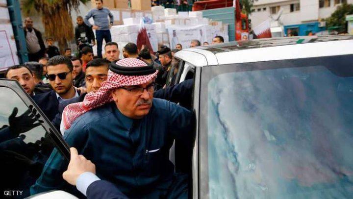 السفير العمادي يغادر غزة عبر حاجز بيت حانون