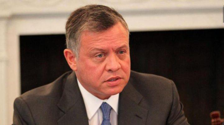 العاهل الأردني: ضرورة تكثيف الجهود لتحقيق السلام وفق حل الدولتين