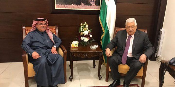 السفير العمادي يلتقي الرئيس عباس واشتية