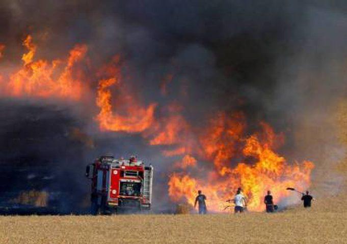 اعلام عبري : عودة الحرائق لمستوطنات غلاف غزة من جديد