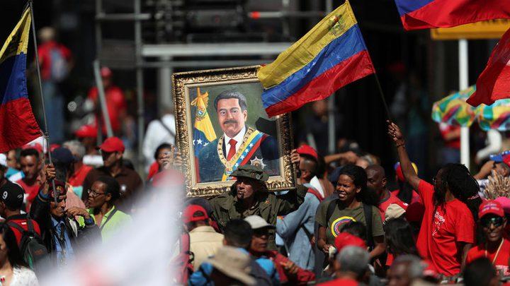 الفنزويليون يحيون الذكرى السنوية لإعادة انتخاب مادورو رئيساً