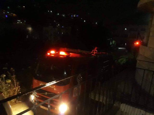 إصابتان إثر حريق في بناية سكنية بجنين