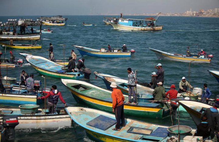 الصياديون يعلقون العمل بسببتقليص تصدير الأسماك للضفة