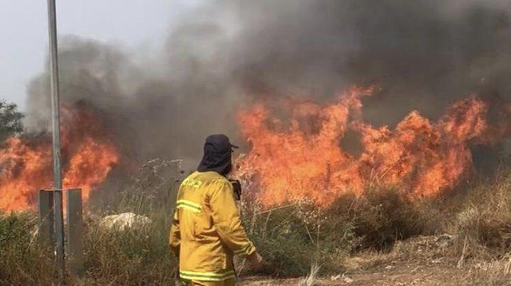 """الاحتلال يزعم اندلاع حريق قرب مستوطنة """"سديروت"""" بفعل البالونات"""