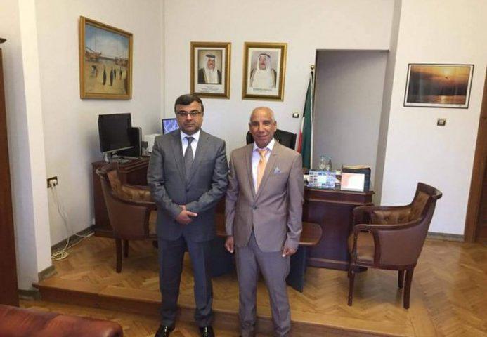 الدكتور عياش يلتقي سفير دولة الكويت في رومانيا