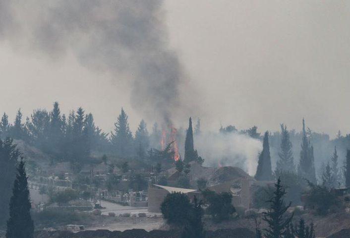 حرائق غابات في المستوطنات بسبب ارتفاع درجات الحرارة