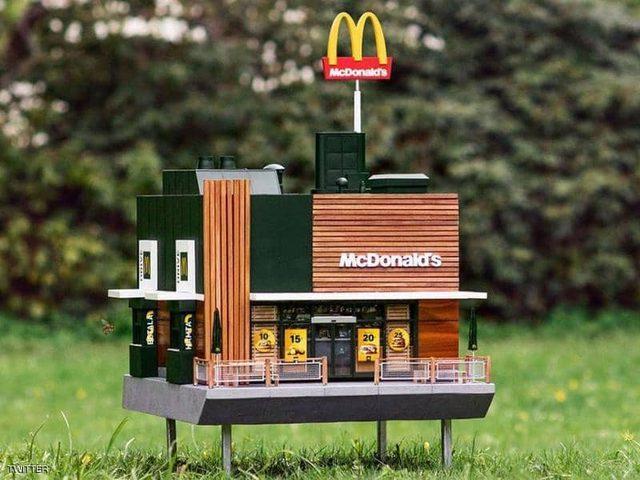 """افتتاح اصغر مطاعم سلسلة الوجبات السريعة """"ماكدونالدز"""" في السويد"""