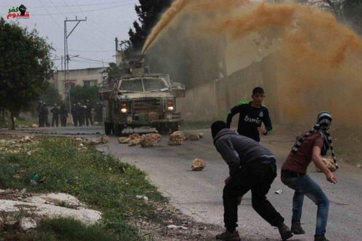 حالات اختناق خلال مواجهات مع الاحتلال في كفر قدوم