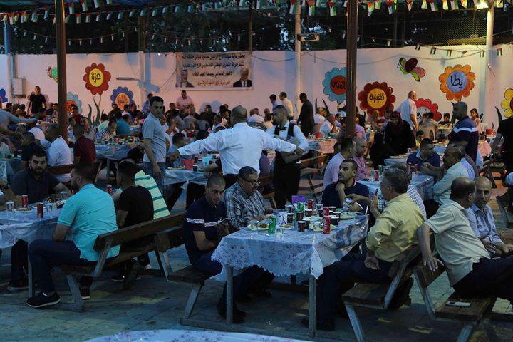 فتح : تنظم افطاراً جماعياً لأسر الشهداء والأسرى في قلقيلية