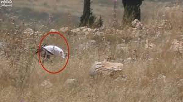 توثيق احراق جندي احتلالي لأراضي المواطنين ببيت لحم
