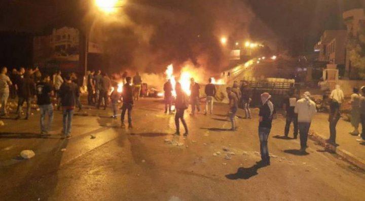 مواجهات مع قوات الاحتلال في بلدة تقوع