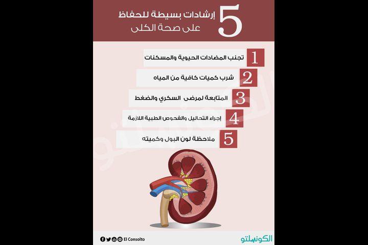 إرشادات بسيطة للحفاظ على صحة الكلى