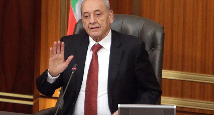 """بري: نرفض تحديد مدة للمفاوضات حول ترسيم الحدود مع """"إسرائيل"""""""