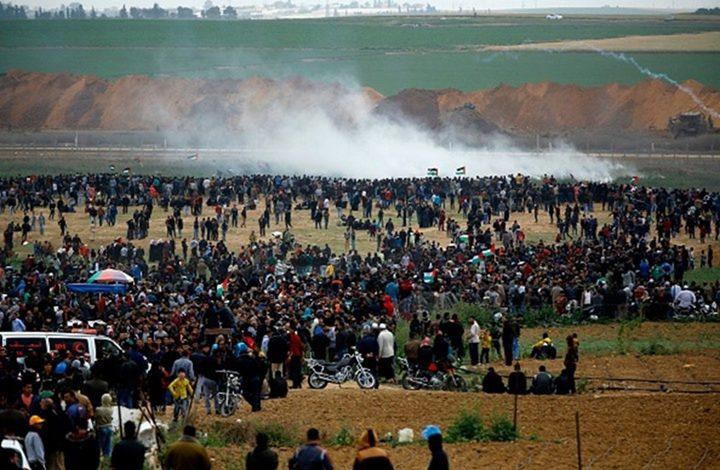إصابات برصاص الاحتلال وبالاختناق شرق قطاع غزة