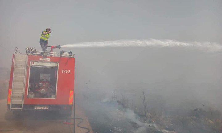 الدفاع المدني يتعامل مع 143 حادث حريق وإنقاذ