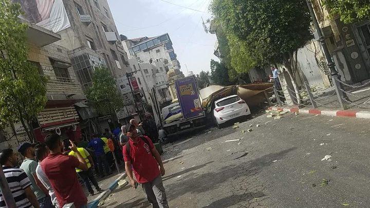 إصابات بانفجار مطعم في رام الله وتضرر عدد من المركبات