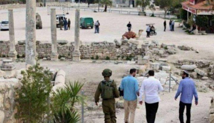 مستوطنون يقتحمون الموقع الاثري في بلدة سبسطية شمال نابلس
