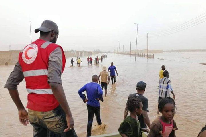 وفيات ونزوح 2500 شخص جراء السيول في جنوب غرب ليبيا