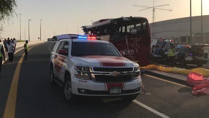 مصرع 17 شخصا بحادث لحافلة عُمانية في دبي