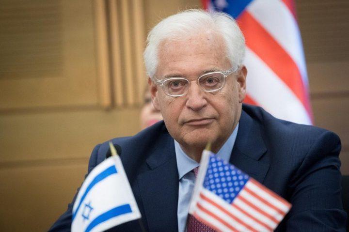 رفض فلسطيني لتصريحات فريدمان العنصرية