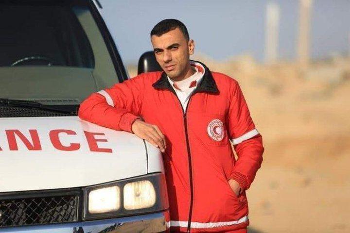 استشهاد ضابط إسعاف في غزة