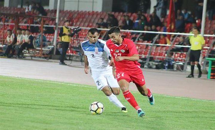 منتخب فلسطين جاهز لمواجهة قيرغيزستان