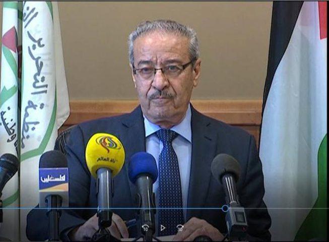 تيسير خالد: لا خيار أمامنا غير العصيان الشامل في وجه الاحتلال