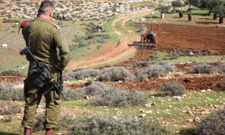 الاحتلال يستولي على 20 دونما شرق نابلس