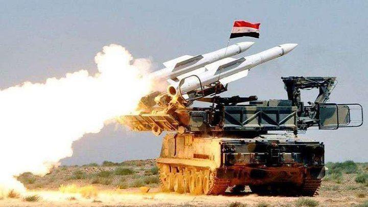 الدفاعات الجوية السورية تتصدى لصواريخ إسرائيلية وتسقط عددا منها