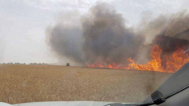 الاحتلال يزعم: اندلاع ستة حرائق في مستوطنات غلاف غزة