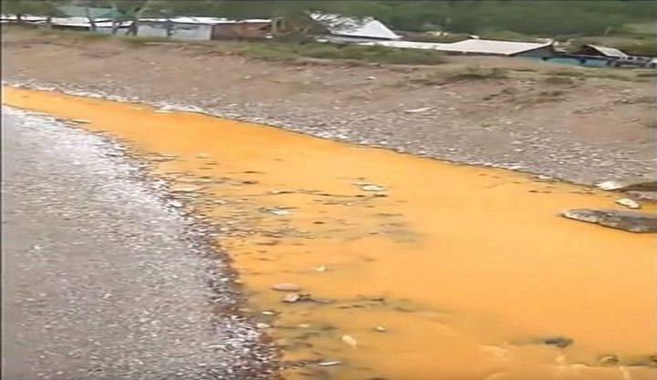 روسيا.. السموم تحول نهر إلى اللون البرتقالي