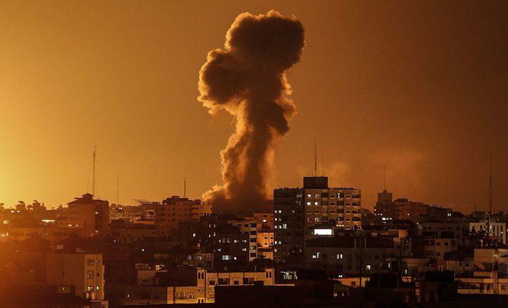 قصف اسرائيلي على موقع بحي الزيتون جنوب شرق مدينة غزة
