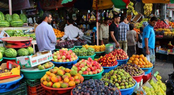 الإحصاء يعلن مؤشر غلاء المعيشة في فلسطين في شهر أيار