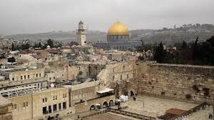 """طابع بريد أردني يحمل شعار """"القدس عاصمة فلسطين"""""""