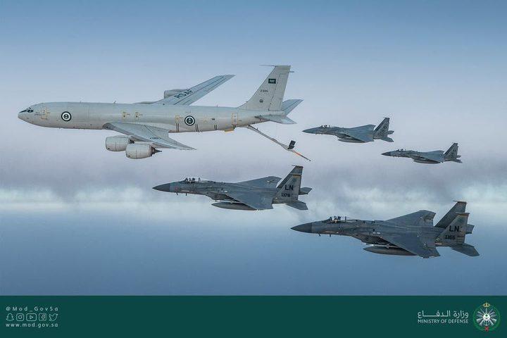 طائرات سعودية وأميركية تحلق فوق الخليج