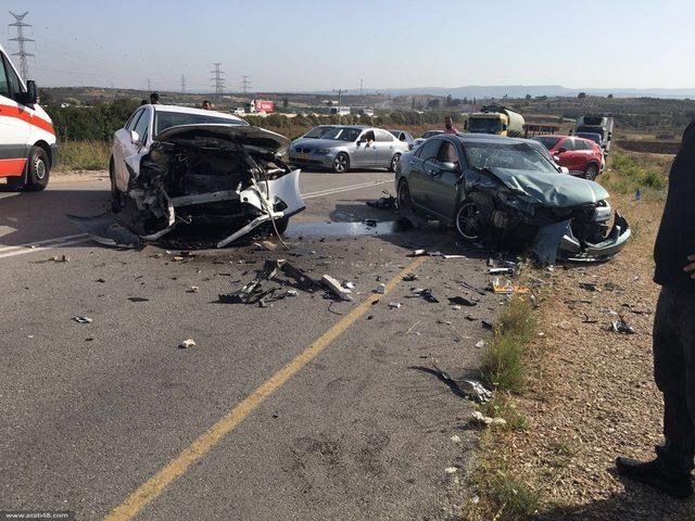 إصابات جراء حادث سير في قلقيلية
