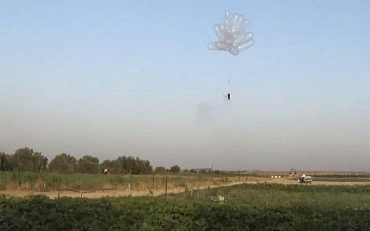 الاحتلال يزعم: إطلاق بالونات حارقة من غزة