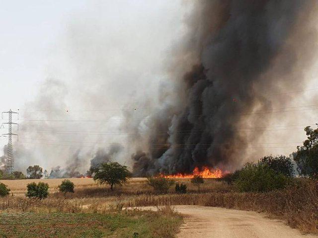 الاحتلال يخلي منازل مستوطنة جنوبي نابلس بفعل حريق كبير