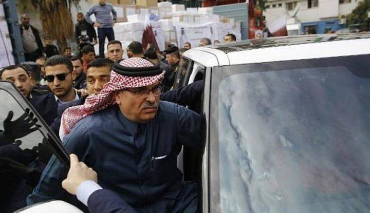 السفير القطري محمد العمادي يغادر قطاع غزة