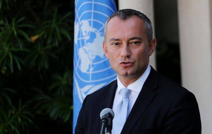 ملادينوف: التوسع الاستيطاني في الاراضي الفلسطينية يجب أن يتوقف