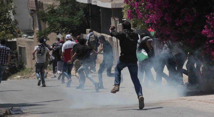 إصابات بالاختناق جراء قمع الاحتلال لمسيرة كفر قدوم