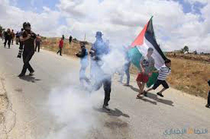 اصابات جراء قمع الاحتلال مسيرة نعلين الأسبوعية
