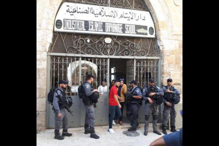 الاحتلال يمنع فعالية ثقافية بمدرسة دار أيتام بالقدس
