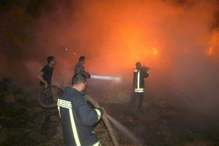الدفاع المدني يتعامل مع عدة حرائق في جنين