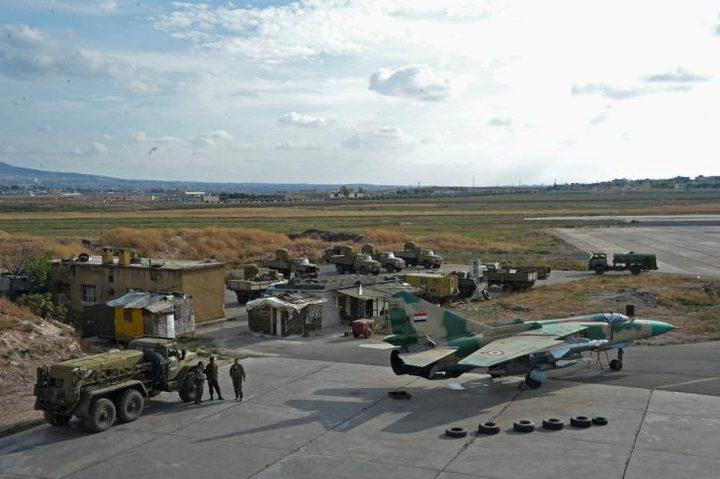 الجيش السوري يسقط طائرة مسيرة في محيط مطار حماة العسكري