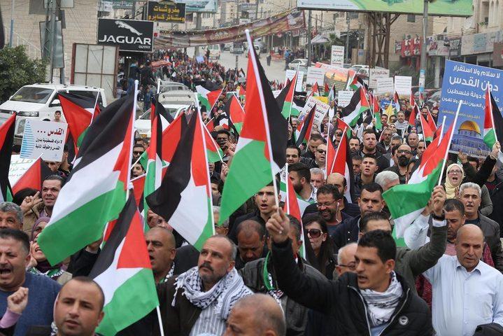 مسيرات غاضبة في الوطن والشتات... وإضراب شامل في غزة الثلاثاء