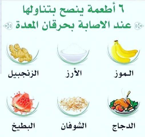 أطعمة ينصح بتناولها عند الاصابة بحرقان المعدة
