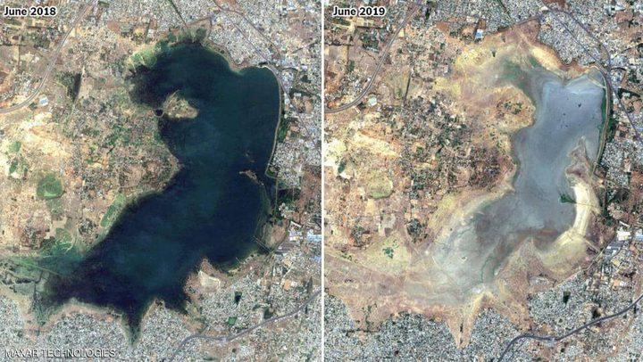 """صور فضائية ترصد الكارثة...مدينة """"جفت"""" في عام واحد"""