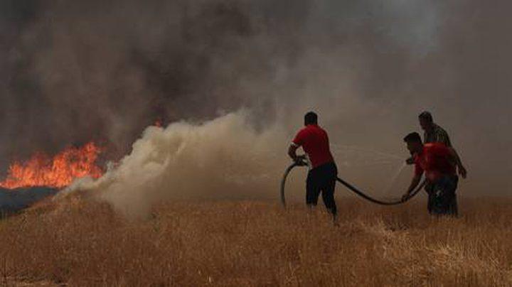 العراق: السيطرة على حريق نشب وسط معمل للكبريت بالموصل